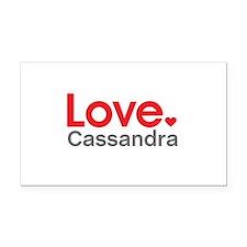 Love Cassandra Rectangle Car Magnet