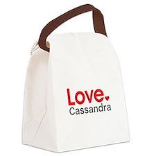 Love Cassandra Canvas Lunch Bag