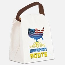 American Ukrainian Roots Canvas Lunch Bag