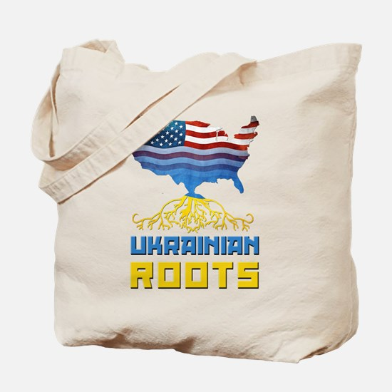 American Ukrainian Roots Tote Bag