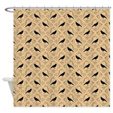 Crow Pattern on Beige. Shower Curtain