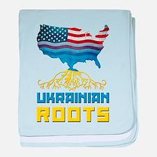 American Ukrainian Roots baby blanket