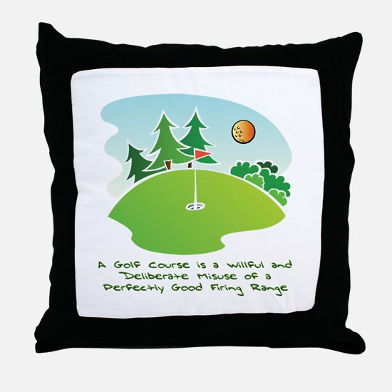 The Golf Course Throw Pillow