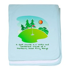 The Golf Course baby blanket