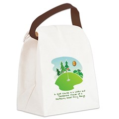 The Golf Course Canvas Lunch Bag