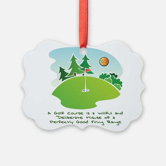 The Golf Course Ornament