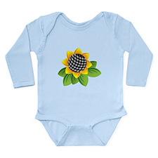 Gingham Sunflower Body Suit