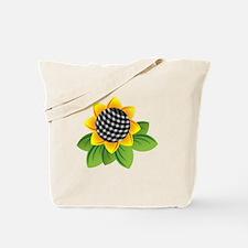 Gingham Sunflower Tote Bag
