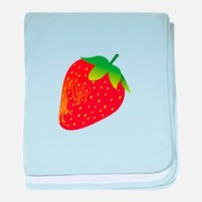 Fresh Strawberry baby blanket