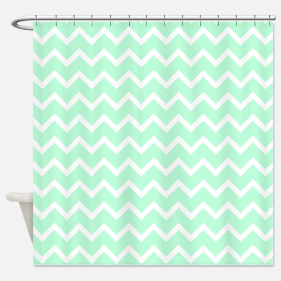mint green shower curtain. Mint Green Zigzags  Shower Curtain Pastel Curtains CafePress