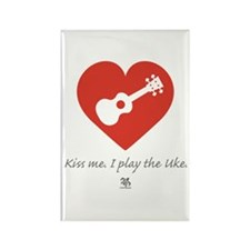 Kiss Me Uke Rectangle Magnet (10 pack)
