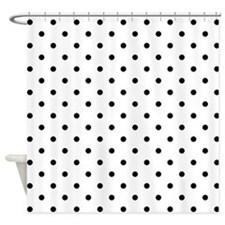 Black Polka Dot Pattern. Shower Curtain