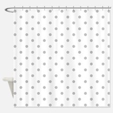 Light Gray Dot Pattern. Shower Curtain