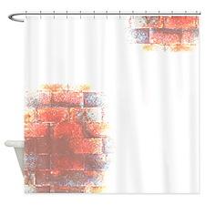 Bricks. Digital Art. Shower Curtain