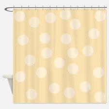 Beige Spots Pattern. Shower Curtain