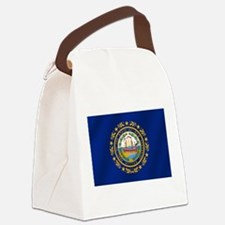 New Hampshire State Flag Canvas Lunch Bag