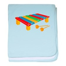 Xylophone baby blanket