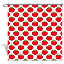 Red Tomato Pattern. Shower Curtain