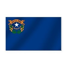 Nevada State Flag Rectangle Car Magnet