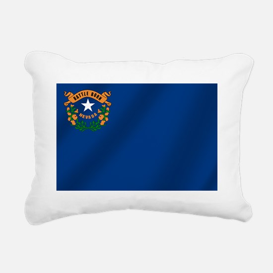 Nevada State Flag Rectangular Canvas Pillow