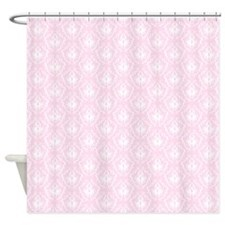 Pink Damask Pattern. Shower Curtain