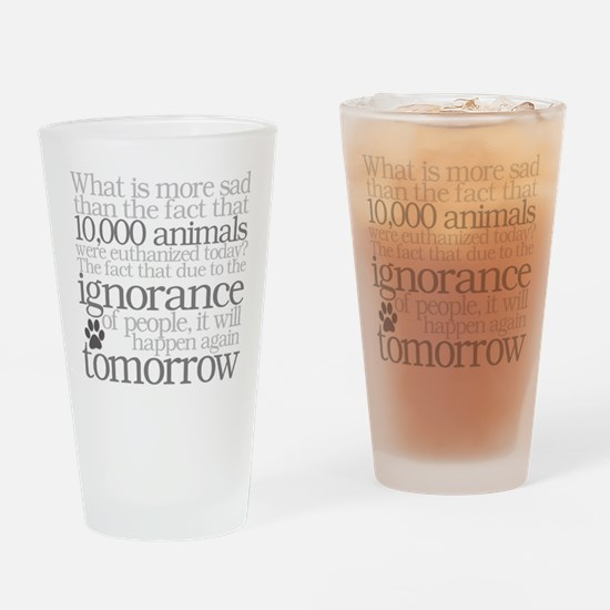 Save The Animals Drinking Glass