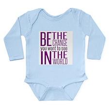 Be The Change (Purple) Body Suit