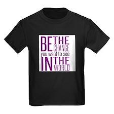 Be The Change (Purple) T-Shirt