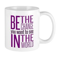 Be The Change (Purple) Mug