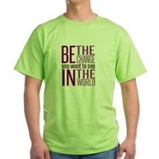 Be The Change (Purple) T-Shirt
