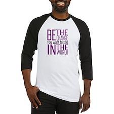 Be The Change (Purple) Baseball Jersey