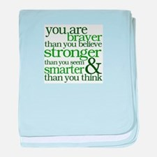 You are stronger than you seem baby blanket