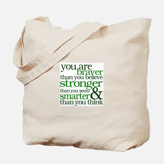 You are stronger than you seem Tote Bag