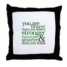 You are stronger than you seem Throw Pillow