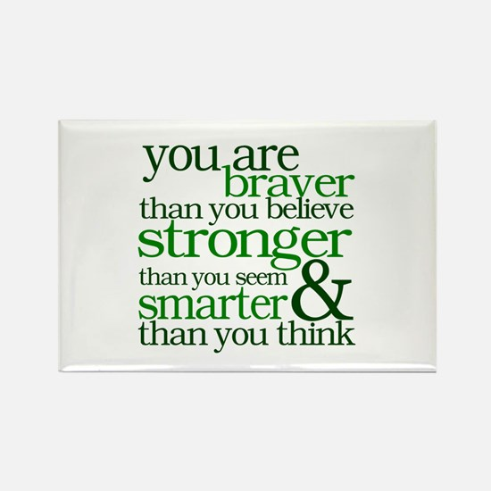 You are stronger than you seem Rectangle Magnet