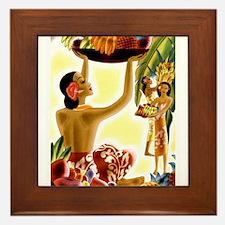 Hawaiian Fruit Harvest Framed Tile