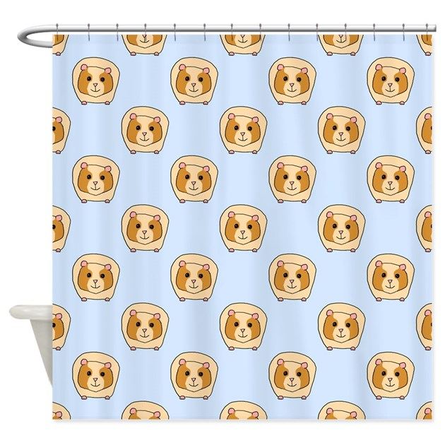 Guinea Pig Pattern Shower Curtain By Metarla