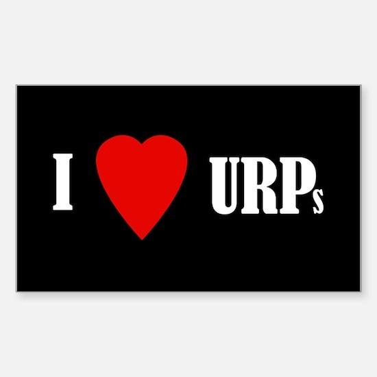 I love URPs Sticker (Rectangle)