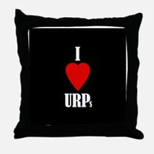 I love URPs Throw Pillow