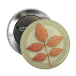 "White Ash Leaves 2.25"" Button (10 pack)"