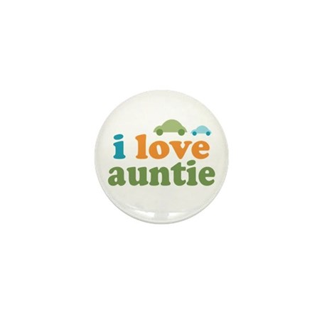 I Love Auntie Mini Button (10 pack)
