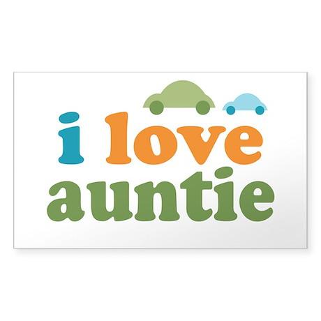 I Love Auntie Sticker (Rectangle 50 pk)