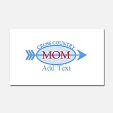 Cross Country Mom Blue Text Car Magnet 20 x 12