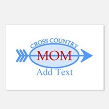 Cross Country Mom Blue Text Postcards (Package of