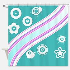 Cool Retro Design Shower Curtain