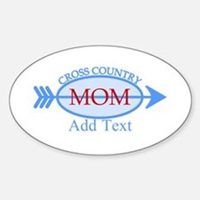 Cross Country Mom Blue Text Decal