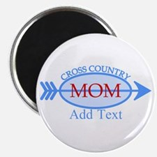 """Cross Country Mom Blue Text 2.25"""" Magnet (10 pack)"""