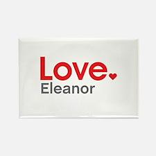 Love Eleanor Rectangle Magnet