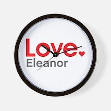 Love Eleanor Wall Clock