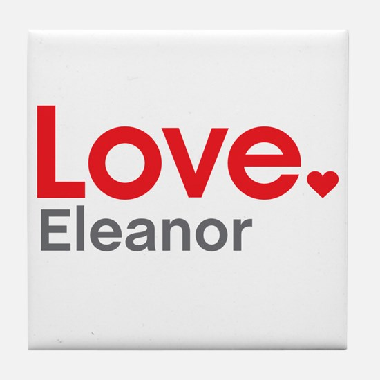 Love Eleanor Tile Coaster